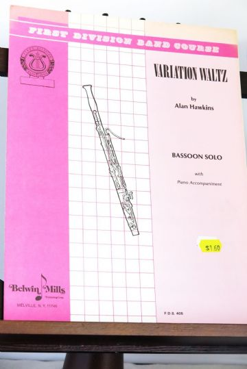 Hawkins A - Variation Waltz for Bassoon & Piano